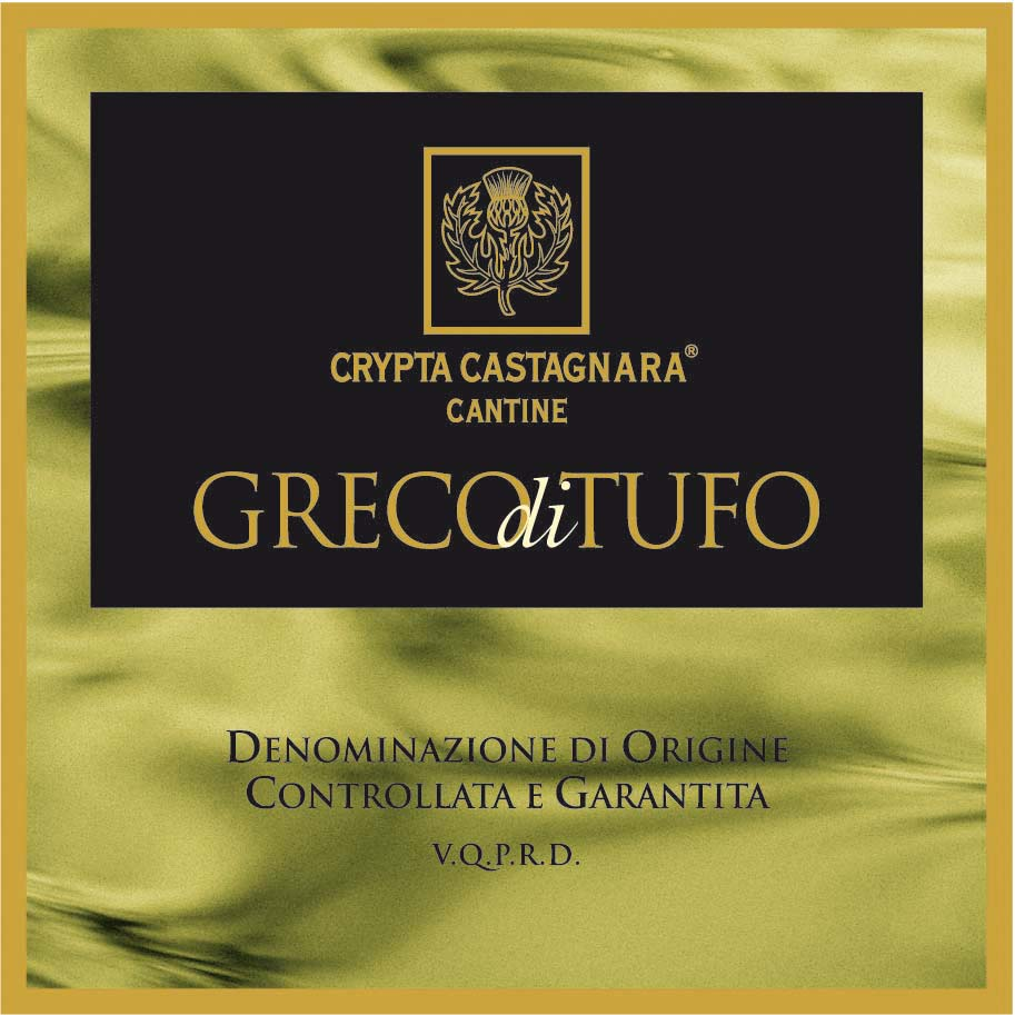 Etichetta Greco di Tufo Crypta Castagnara